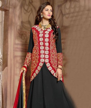 Velvet Suit with Dupatta and Inner