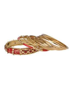 BAUBLE BURST Royal Red Bangles Stack-S2.6