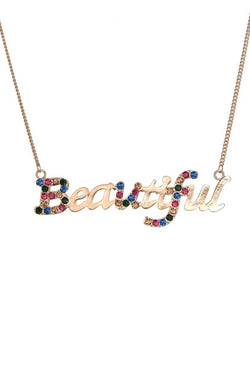 Be Beautiful Necklace  - JIAFNEC5974