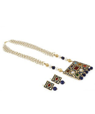 ARADHYA Alloy, Stone Jewel Set (Multicolor)