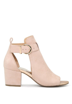 London Rag Women's Nude Peep Toe Ankle Strap Sandals $ SH1609
