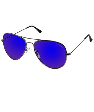 David Blake Blue Mirror Aviator Sunglass