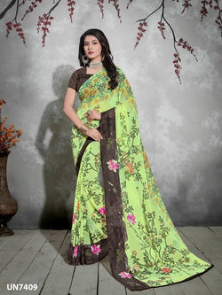Umang NX Multi Digital Designer Digital Printed Sarees $ UN7409