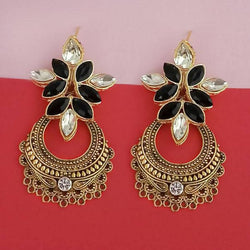 Tanishka Fashion Gold Plated Pota Stone Dangler Earrings $ 1315524D