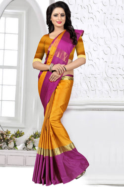 YOYO Fashion Latest Fancy Kangi Ora Yellow  Saree $SARI2579 Yellow