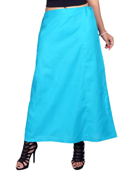 MY TRUST Cotton Sky Blue Color Saree Petticoats $ PT- 9
