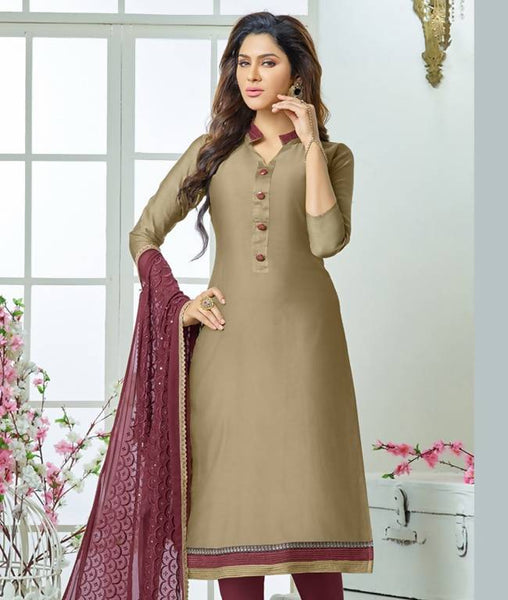 Unstitched Suit with Dupatta AW_100000964089