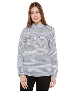 Oxolloxo Off-White Striped Top