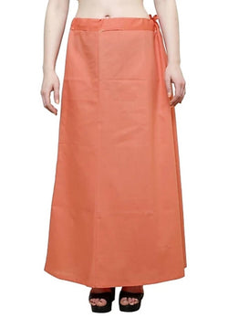 MY TRUST Cotton Peach Color Saree Petticoats $ PT-14