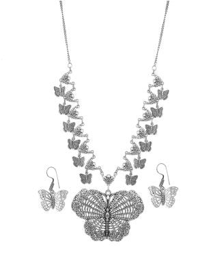 Aradhya Alloy, Metal Jewel Set (Silver)