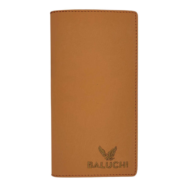 Baluchi Tan Matt Finished Long Wallet for Men & Women $ BLC_LNGWLT_TAN_03