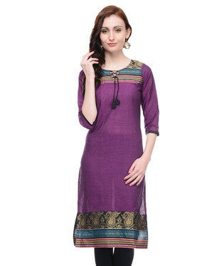 Enchanted Drapes Purple Kurta