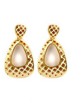 Golden Spoon Earrings  - JNFHEAR0900