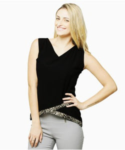 Miss Chase Black S/L Top