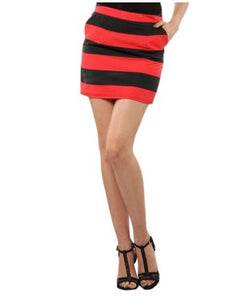 Xny Red And Black Short Skirt