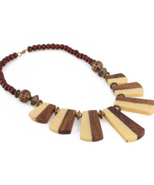 Aradhya Beads Wood, Acrylic Necklace