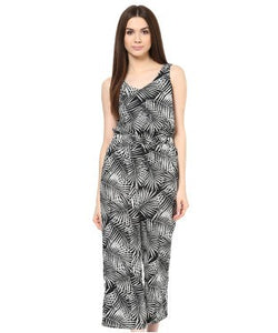 Miway Black & White Printed Jumpsuit