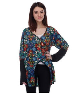 Blue Lotus Multicolor F/S Top
