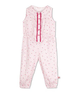 Budding Bees Infant Pink Printed Jumpsuit