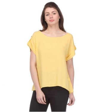 Glam a gal yellow s/s top