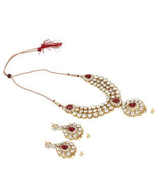 Aradhya Brass Jewel Set (Gold)