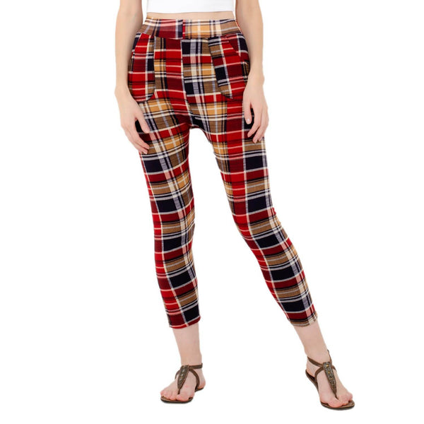 Baluchi's Check Plaid Print Jeggings $ BLC_JEG_15