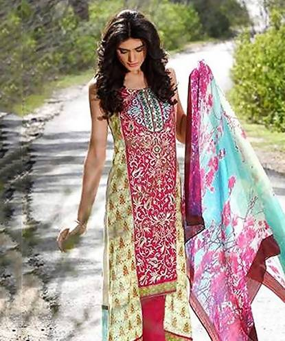 Unstitched Suit with Dupatta AW_100000895599