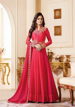 YOYO Fashion Designer Georgette Latest Anarkali Salwar Suit - F1171