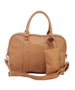 Fiona Trends Tan PU Shoulder Bag,6005_TAN