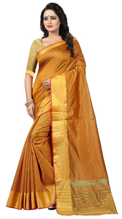 YOYO Fashion Latest Fancy Kota Dhupian Mustard Saree $ SARI2581 Mustard