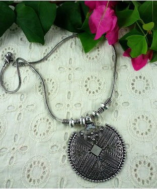 Aradhya Sterling Silver Necklace