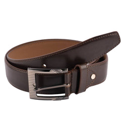 Baluchi's Brown Textured Semi Formal Men's Belt $ BLC_PMBR_9