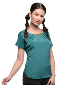 United Colors Of Benetton Green S/S Top