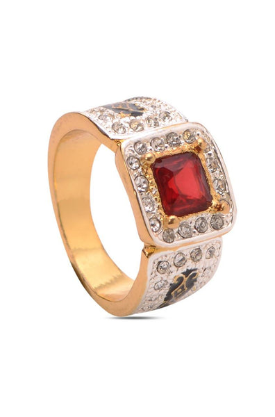 Bauble Burst Cherry Stone Sparkle Ring