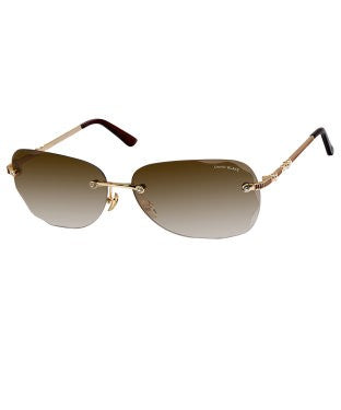 David Blake Brown Cateye Gradient, UV Protected, Mirrored Sunglass