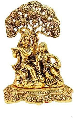 Gold Plated Radha Krishna Murti with Beautiful Velvet Box Packing $ GSI-139