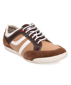 American Swan Beige And Brown Casual Shoe