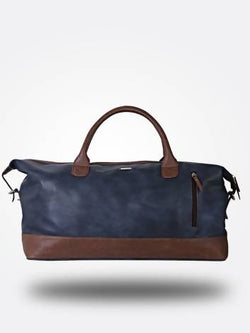 Strutt Unisex Blue & Brown Leatherette Cabin Baggage $ SMD513