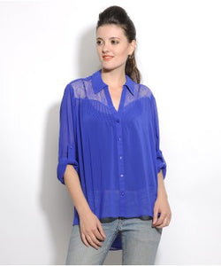 Forever New Royal Blue F/S Top