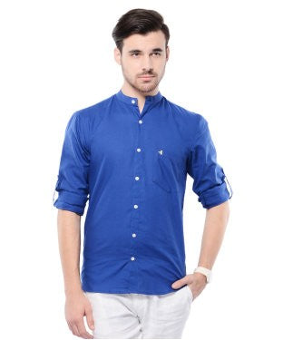 Smith & Co Royal Blue F/S Shirt