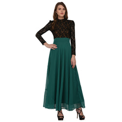 NET DESIGNER GEORGETTE LONG DRESS FOR WOMEN $ GB0005