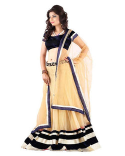 Muta Fashions Women's Semi stitched Banglori Silk Light Brown Lehenga $ LEHENGA10