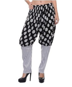 Lavennder black and white sharara salwar