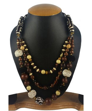 Aradhya Beads Wood Necklace
