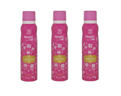 Naughty Girl FLEUR-ESSENCE Deodorant for Women- Pack of 3 (150ml each)