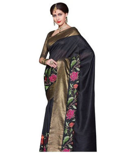 Laethnic beige applique designer saree