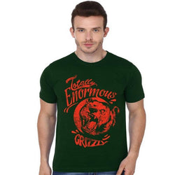 Partum Corde Premium Men's Modern Fit Round Neck T shirt ENORMOUS GRIZZLY $ ENORMOUS GRIZZLY1813