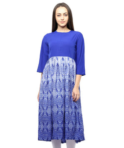 BLUE COLOR CREPE HOMA KURTIS