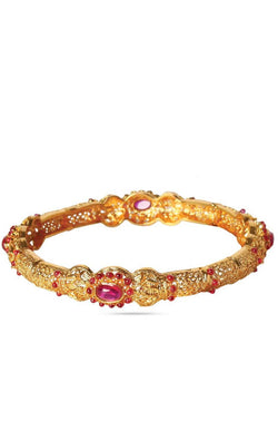 Bauble Burst Regal Ruby Eye Bangle