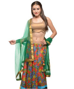 Cotton Lehanga, Choli with Dupatta